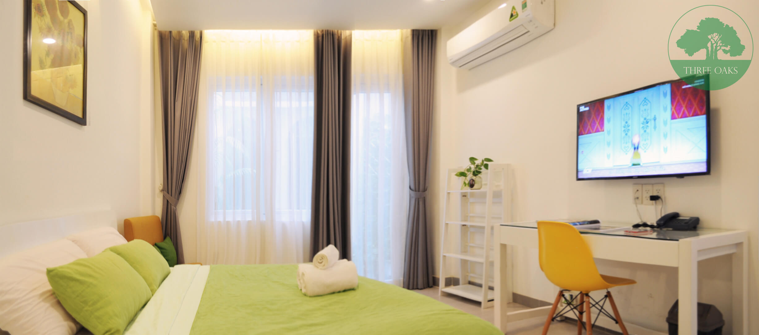serviced-aparment-room-for-rent-saigon-One-bedroom-with-Small-backyard-12